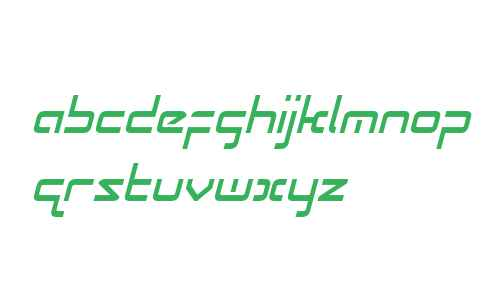 Radio Space Condensed Italic