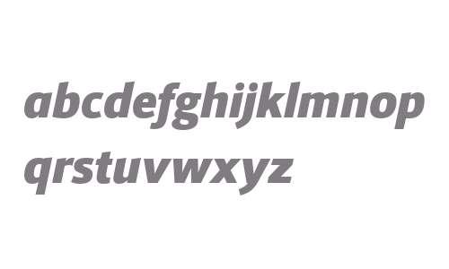 Foro Sans W03 Black Italic