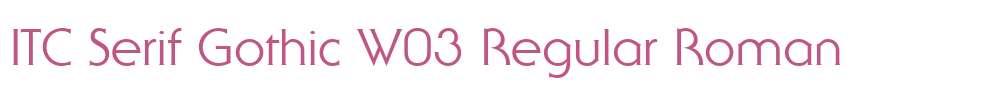 ITC Serif Gothic W03 Regular