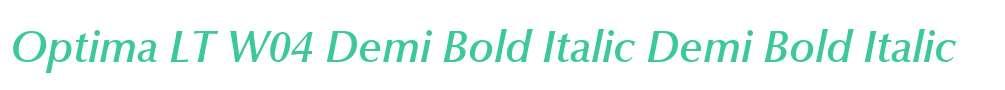 Optima LT W04 Demi Bold Italic