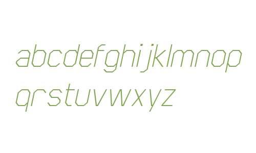 Scriber W00 Thin Italic
