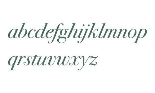 Bodoni Seventytwo ITC Book Italic OS