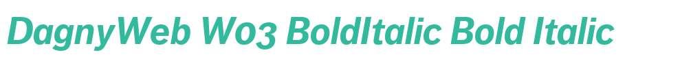 DagnyWeb W03 BoldItalic