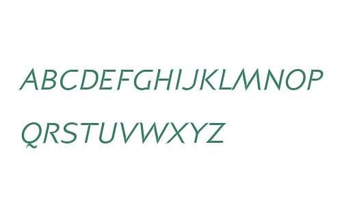 P22 Coda W01SC Italic SC