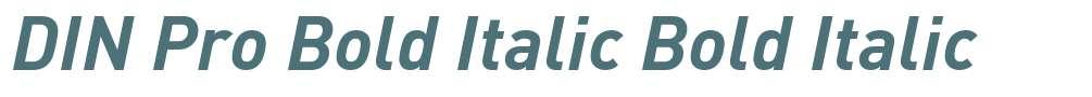 DIN Pro Bold Italic