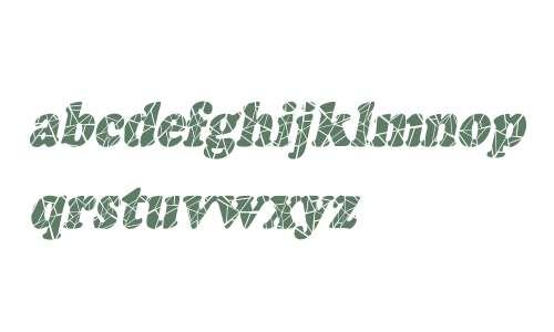 Marshmallow Cracked-Condensed Italic