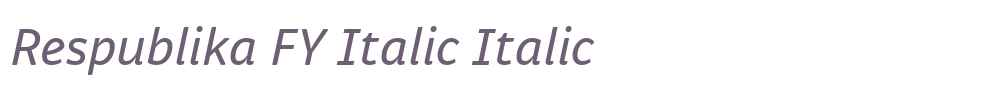 Respublika FY Italic