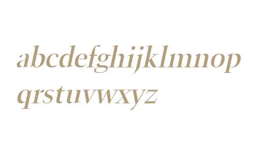 Horn Wide Italic