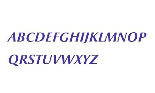 Optima nova LT Demi Italic Small Caps