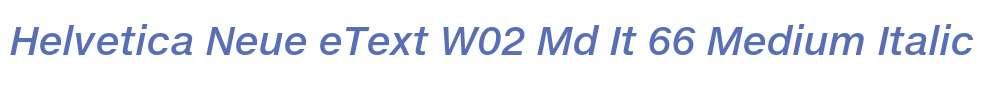 Helvetica Neue eText W02 Md It