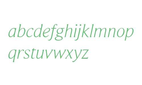 BeaufortLight Italic
