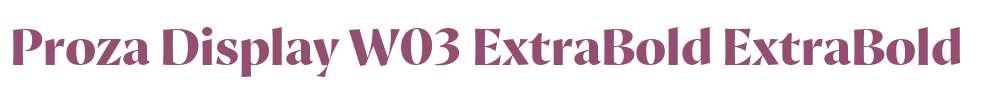 Proza Display W03 ExtraBold