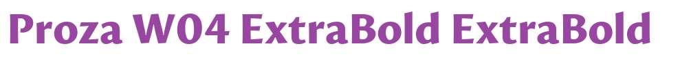 Proza W04 ExtraBold