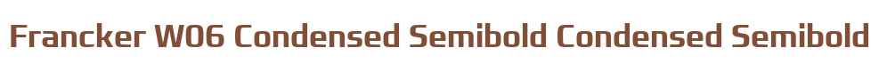 Francker W06 Condensed Semibold