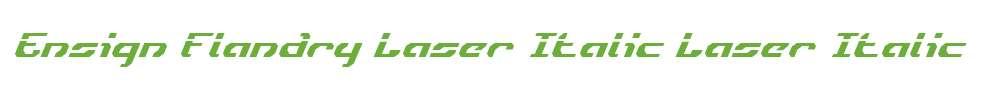 Ensign Flandry Laser Italic