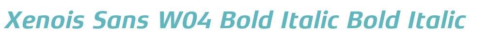 Xenois Sans W04 Bold Italic