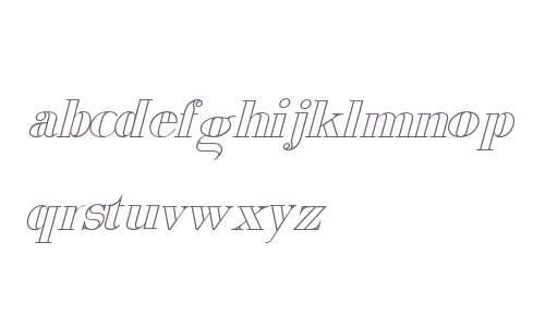 Viking Drink Outline Italic