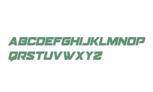 Bomber Escort Condensed Italic