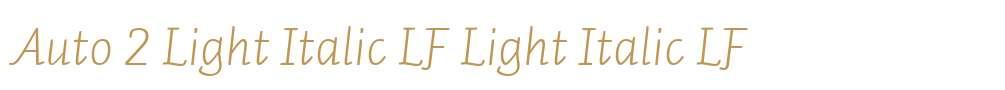 Auto 2 Light Italic LF
