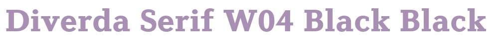 Diverda Serif W04 Black