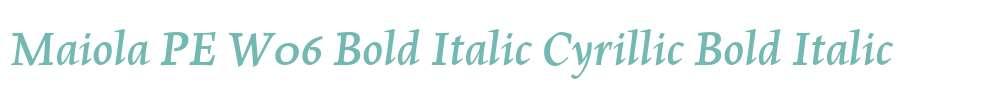 Maiola PE W06 Bold Italic