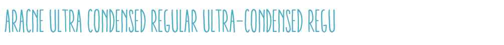 Aracne Ultra Condensed Regular