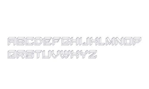 Blocky Letters Hollow Regular
