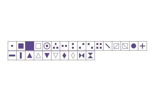 PIXymbols Xstitch W95 Italic