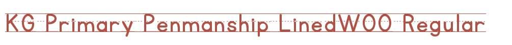 KG Primary Penmanship LinedW00