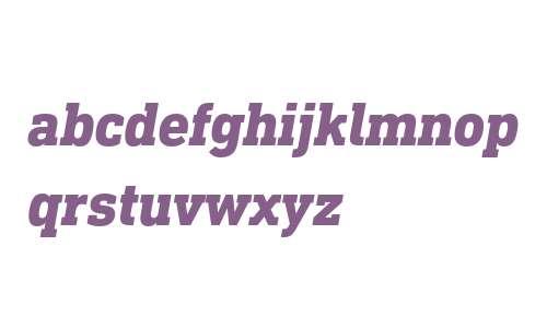 DIN Next Slab W04 Heavy Italic