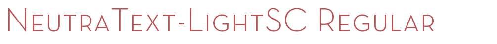 NeutraText-LightSC