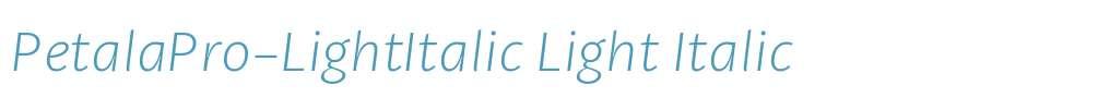 PetalaPro-LightItalic