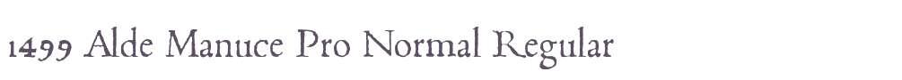 1499 Alde Manuce Pro Normal
