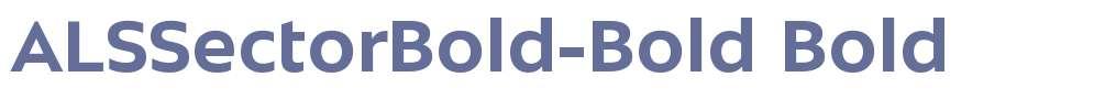 ALSSectorBold-Bold