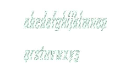 Lichtspiele Neon Outline Italic