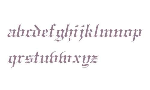 England Italic