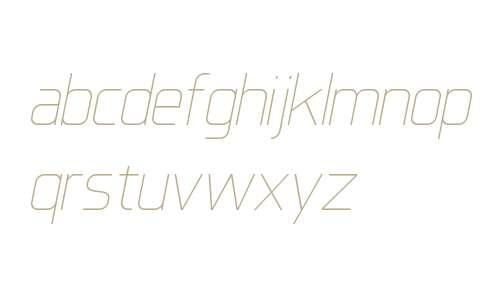 IkiruSans W00 Thin Italic