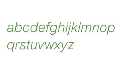Arial MT W04 Light Italic