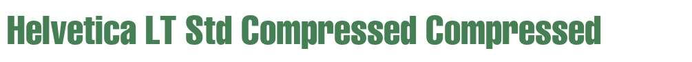 Helvetica LT Std Compressed