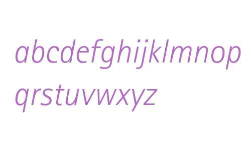 Rotis SansSerif Std Light Italic