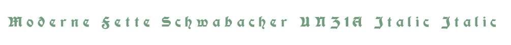 Moderne Fette Schwabacher UNZ1A Italic