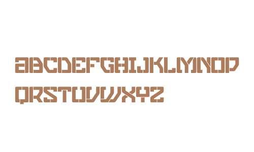 Eslava Stencil W00 Regular