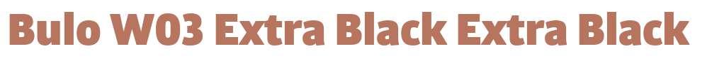 Bulo W03 Extra Black