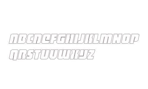 Heavy Falcon Outline Italic