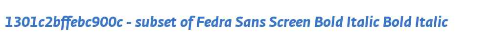 1301c2bffebc900c - subset of Fedra Sans Screen Bold Italic