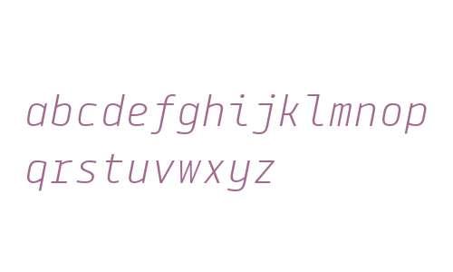 Tabular Light Italic