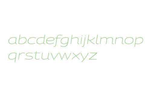 PanoramaW ExtraExtended UltraLight Italic