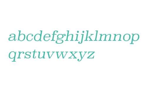Superclarendon Lt Italic V1