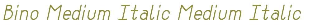 Bino Medium Italic