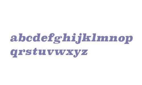 Superclarendon W00 Black Italic